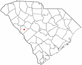 Location of Edgefield, South Carolina