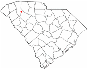 Location of Fountain Inn, South Carolina