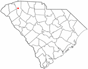 Location in South Carolina