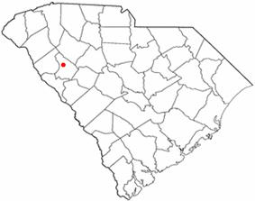 Location of Greenwood, South Carolina