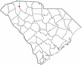 Location of Greer, South Carolina
