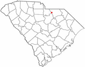Location of Jefferson, South Carolina