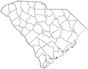 Location of Kiawah Island inSouth Carolina