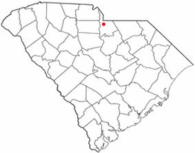 Location of Lancaster, South Carolina