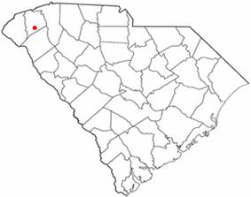 Location of Liberty, South Carolina