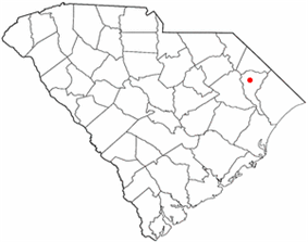 Location of Marion in South Carolina