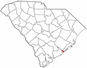 Location of Mount Pleasant inSouth Carolina