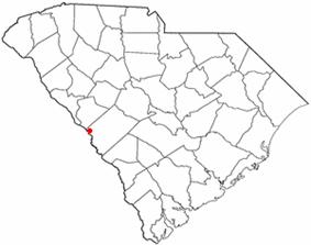 Location of North Augusta, South Carolina