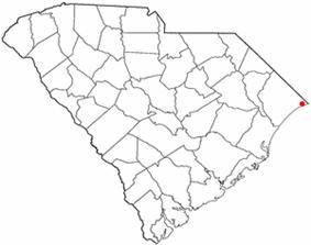 Location of North Myrtle Beach inSouth Carolina