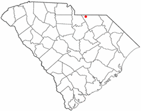 Location of Pageland, South Carolina