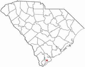 Location of Parris Island, South Carolina