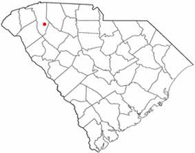 Location of Simpsonville, South Carolina