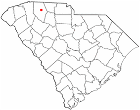 Spartanburg's location in South Carolina