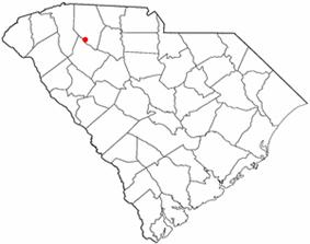 Location of Woodruff, South Carolina