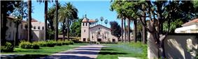 The Santa Clara Mission is at the heart of SCU's historic campus.