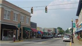 The historic downtown district of Apex