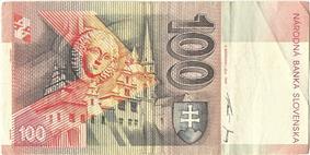 100 korún reverse