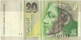 20 korún obverse