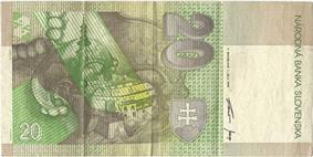 20 korún reverse