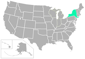 State University of New York Athletic Conference locations