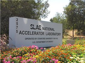 The entrance to SLAC in Menlo Park.