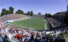 Spartan Stadium during a football game