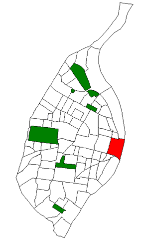Location of Downtown within St. Louis