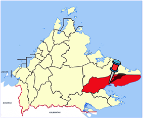 Location of Lahad Datu