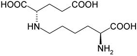 Stereo, skeletal formula of saccharopine ((2S)-2-{[(5S)-5-aminopentyl]amino})
