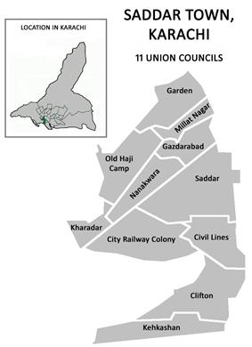 Union councils of Saddar Town