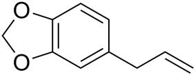 Skeletal formula of safrole