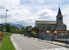 Commune of Saint-Girod: village center and its church