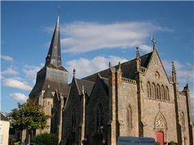 The church of Saint-Hermeland, in Saint-Herblain