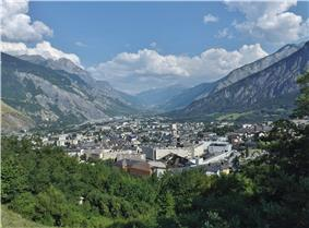 A view of Saint-Jean-de-Maurienne in the direction of Modane