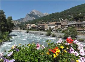 The Arc river in Saint-Michel-de-Maurienne
