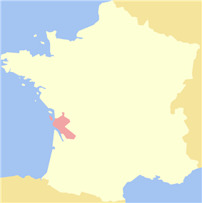 Location of Saintonge in France