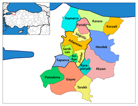 Districts of Sakarya