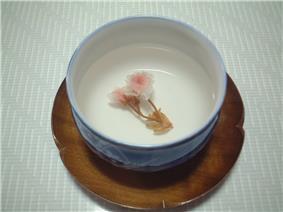 A cup of sakurayu