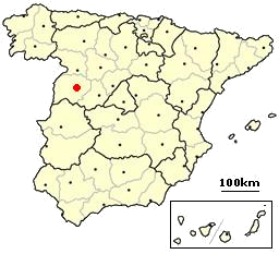 Location of Salamanca in Spain