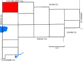 Location of Salem Township in Auglaize County