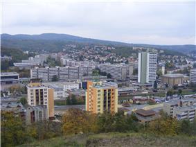 Skyline of Salgótarján
