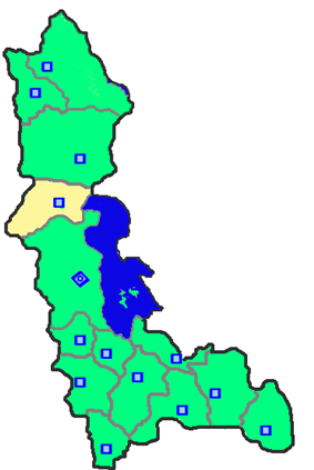 Location of Salmas County in West Azerbaijan Province.