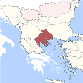 Location of Salonika Eyalet