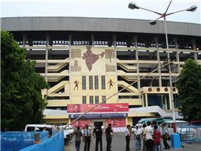 Salt Lake Stadium ( Yuba Bharati Krirangan ) Kolkata India - FC Bayern Munich Mohun Bagan Oliver Kahn 4.jpg