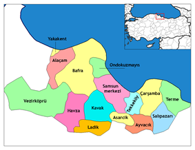 Districts of Samsun