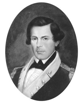 black & white portrait of Samuel Nicholas