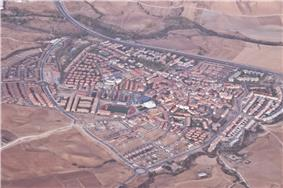Aerial view of the town