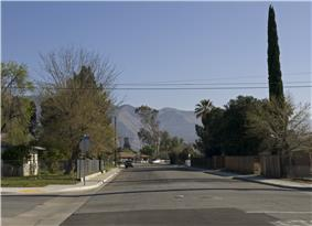 Panorama along 6th Street to the east.