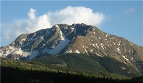 Mountains in San Juan National Forest.