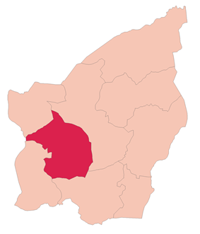 San Marino's location in San Marino